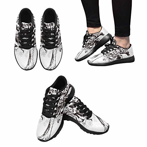 InterestPrint Womens Casual Soft Sports Road Running Walking Shoes Pen Stroke Tree Of Ghost Multi 1 lHk53NTI