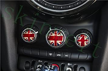 LVBAO Centre Dashboard Panel Vent Frame Cover Sticker Trim Mini Cooper F55 Hardtop F56 Hatchback F57 Covertible 1