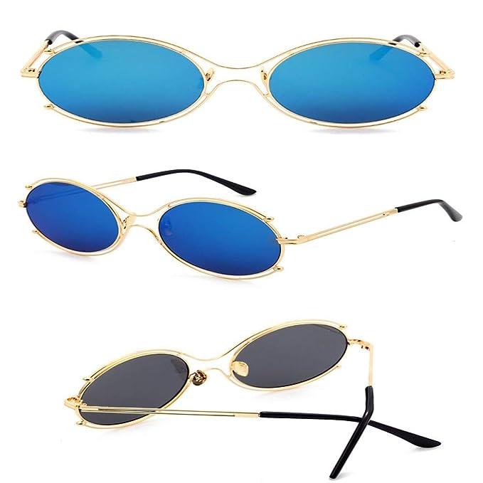 SenDi Gafas de sol-Gafas redondas con montura, moda, gran ...