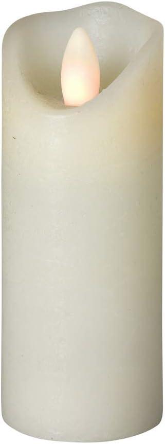 Fonction minuterie Sompex Bougie LED Shine Ivoire givr/é /Ø 5 cm Technologie LED Diff/érentes Tailles T/él/écommande Cire v/éritable
