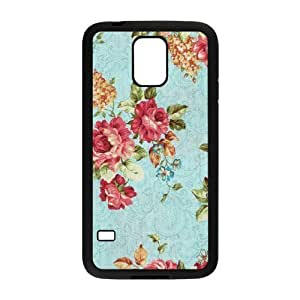 Retro Floral Series Brand New Cover Case for SamSung Galaxy S5 I9600,diy case cover ygtg597675 by Maris's Diary