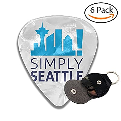 Colby Keats Guitar Picks Plectrums Simply Seattle Classic Electric Celluloid Acoustic For Bass Mandolin Ukulele 6 Pack 3 Sizes