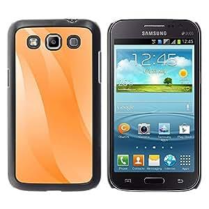 Paccase / SLIM PC / Aliminium Casa Carcasa Funda Case Cover para - Wavy Lines Orange Pastel White - Samsung Galaxy Win I8550 I8552 Grand Quattro
