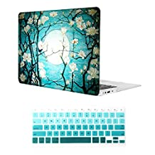 MacBook Air 13 inch Case,iCasso Rubber Coated Glossy Hard Shell Plastic Protective Case Cover + Keyboard Cover for Apple Laptop MacBook Air 13 inch (Model : A1369/A1466), Cherry Blossoms
