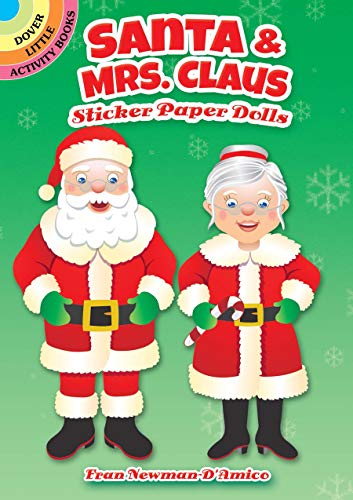 Santa & Mrs. Claus Sticker Paper Dolls (Dover Little Activity Books Paper Dolls)