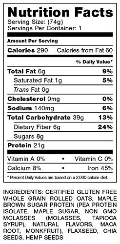 Oats Overnight 24 Pack Plant Based with BlenderBottle - Premium High-Protein, Low-Sugar, Gluten-Free (2.6oz per pack) by Oats Overnight (Image #9)