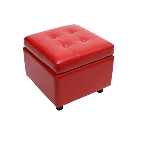Terrific Amazon Com Ycsd Faux Leather Storage Ottomans Pouffe Foot Pabps2019 Chair Design Images Pabps2019Com