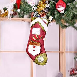 YOLE Bolsa De Caramelo De Decoración De Navidad, Calcetines del Bolso del Caramelo Bolsa De