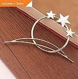 Sandover 1Pc Gold/Silver Women Hollow Star Hairpin Hair Clips...