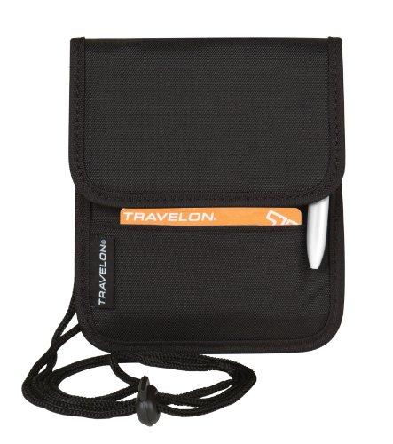 Travelon Folding Id and Boarding Pass Holder, Black, One