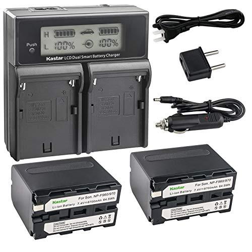 - Kastar LCD Dual Smart Fast Charger & 2 x Battery for Sony NP-F970 NP-F960 F960 and DCR-VX2100 HDR-AX2000 FX1 FX7 FX1000 HVR-HD1000U V1U Z1P Z1U Z5U Z7U HXR-MC2000U MVC-FDR1 NEX-EA50UH FS100U FS700U