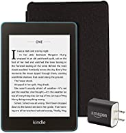 Kindle Paperwhite Essentials Bundle including Kindle Paperwhite - Wifi with Special Offers, Amazon Leather Cov