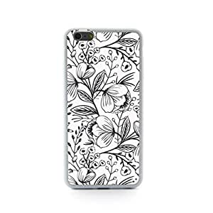 CaseCityLiu - Sketch Flowers Dense Design/Girl Case Black Bumper Plastic+TPU Case Cover for Samsung Galaxy Note4