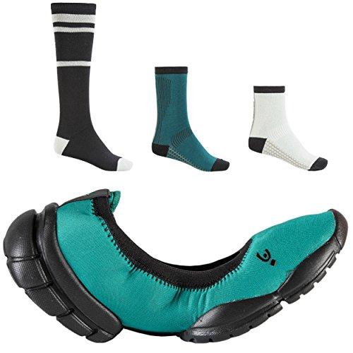 Verde Calze ® Tripartita In i D Verde Freddy Ballerina Omaggio Colore leggera w nero Suola 3pro 3 o Con Ultra 1BnnSw6a