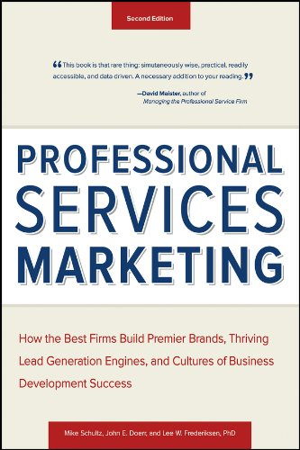 A proven approach to revenue-generating marketing and clientdevelopment Professional Services Marketing is a fully field-testedand research-based approach to marketing and client development forprofessional services firms. The book, now in its Second...