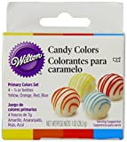 Wilton Candy Colors .25oz 4/Pkg-Yellow, Orange, Red & Blue