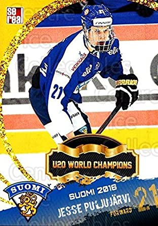 95490b3bc (CI) Jesse Puljujarvi Hockey Card 2016-17 Finnish National Team Sereal U19  Jesse