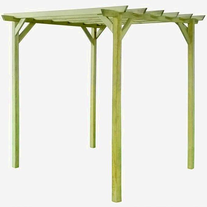 Pergola de madera Garden toldo Kit arco al aire libre 2 m cenador techo libre de pie grande contemporáneo Heavy Duty cuadrado moderno Sun & E libro: Amazon.es: Jardín
