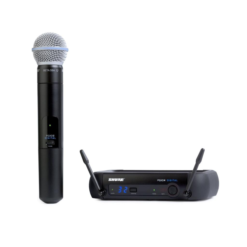 Shure PGXD24 BETA58 X8 Digital Wireless System With Beta 58A Handheld Transmitter