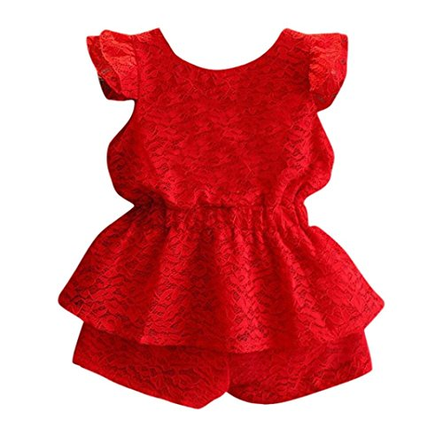 Hot Sale Children Suit Set, vermers Kid Girls Solid Lace Backless Tops+Pants Party Formal Clothes(24M, (Good Halloween Party Name Ideas)