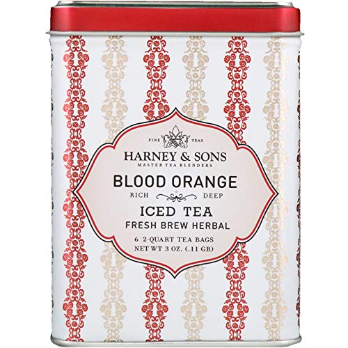 Harney Sons Blood Orange Iced Tea 6-2 Quart Tea Bags 3 oz 0 11 g