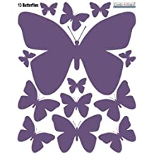 Butterfly Wall Decal Appliques- Purple Girls Wall Stickers-