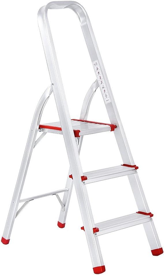 Finether-Escalera Plegable Aluminio de Peldaño de Interior(EN131, 3 FT, Mayor Seguridad, Capacidad: 150kg): Amazon.es: Bricolaje y herramientas