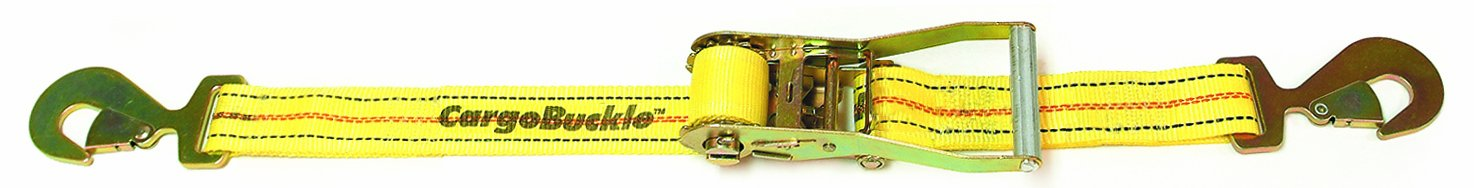 CargoBuckle F13909 Ratchet Strap Tie-Down with Snap Hooks IMMI-Cargobuckle