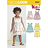 NEW LOOK Patterns Toddlers' Easy Dresses, Top and Cropped Pants Size A (1/2-1-2-3-4) 6441