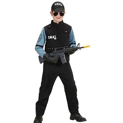 NET TOYS Traje SWAT niño Disfraz policía Chico L 158 cm años ...