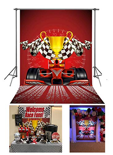 FUERMOR Customized Background 5x7ft Champion Racing Car Photography Backdrop Studio Photo Props GEFU626 (Race Car Pictures)
