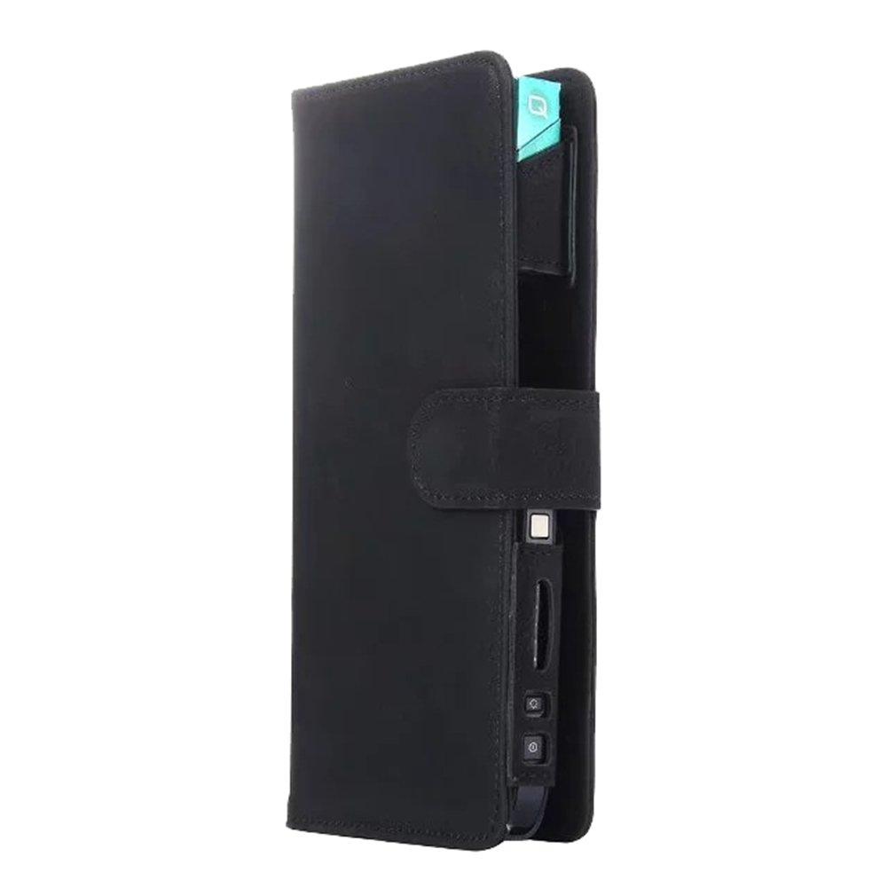 Portasigarette Custodia in pelle sintetica per sigaretta elettronica iQOS Custodia protettiva Multifunzione Borsa con scomparti per carte di credito Yeleo Trosetry