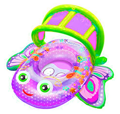 STS SUPPLIES LTD Shaded Baby Float Kiddie Pool Inflatable Toddler Swim Small Size Butterfly Decor Outdoor Hunk Canopy Summer & eBook by AllTim3Shopping.