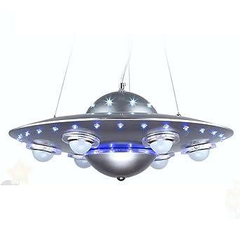 QIYUEQI Iron Kinderzimmer Deckenleuchte Led Ufo Kronleuchter Jungen Und  Mädchen Auge Cartoon Zimmer Lampen 50 *