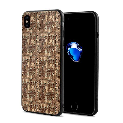 iPhone Xs Case, iPhone X Case Mocha Latte Coffee Slim Thin Glossy Soft Silicone Gel Rubber Shockproof Cover Compatible for iPhone X/XS 5.8 Inch 2018 Release ()