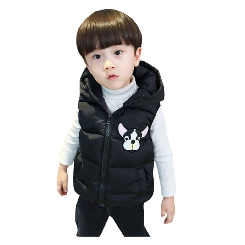 Toddler Kids Baby Boys Girl Winter Cartoon Hooded Warm Thick Jacket Coat Outwear