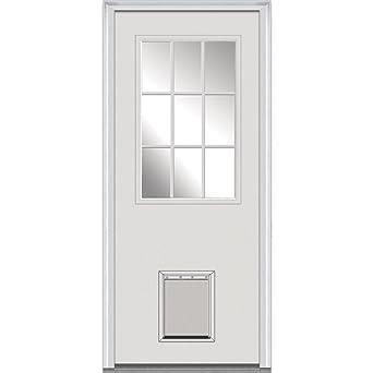 national door company z000344l fiberglass smooth primed left hand