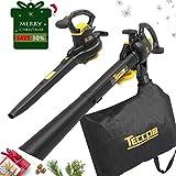 Best Leaf Vacuums - Leaf Blower Vacuum, TECCPO 12-Amp 250MPH 410CFM 3 Review