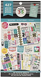 me & my BIG ideas PPSV-08-2048 Create 365 The Happy Planner Sticker Value Pack Planner, Quotes