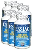 Essiac Tea Softgels, 796 Mg, 6 Pack 720 Soft Gels, Eight Herb Essiac Tea, No Brewing, No Refrigeration, Great for Travel, 180 Day Supply