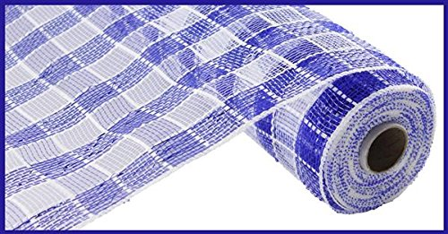 (Plaid Check Deco Poly Mesh Ribbon- 10