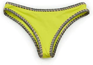 product image for Women's Tricolor Bikini Bottom with Shell Stitch Bathing Swimwear - Made in The USA