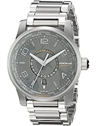 Timewalker World-Time Southern Hemispheres Men's Stainless Steel Swiss Automatic Watch 108956