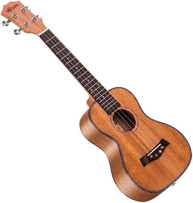 Miiliedy Sirena Princesa Ukulele Estudiantes principiantes Autoestudio Adultos Práctica Hombres Mujeres 23 pulgadas Hawaiana Pequeña guitarra con mochila Correas Paño de pulido Cuerdas