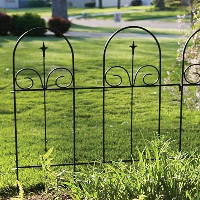 Panacea Wire Garden Border Fence With Finial 42 H Pack