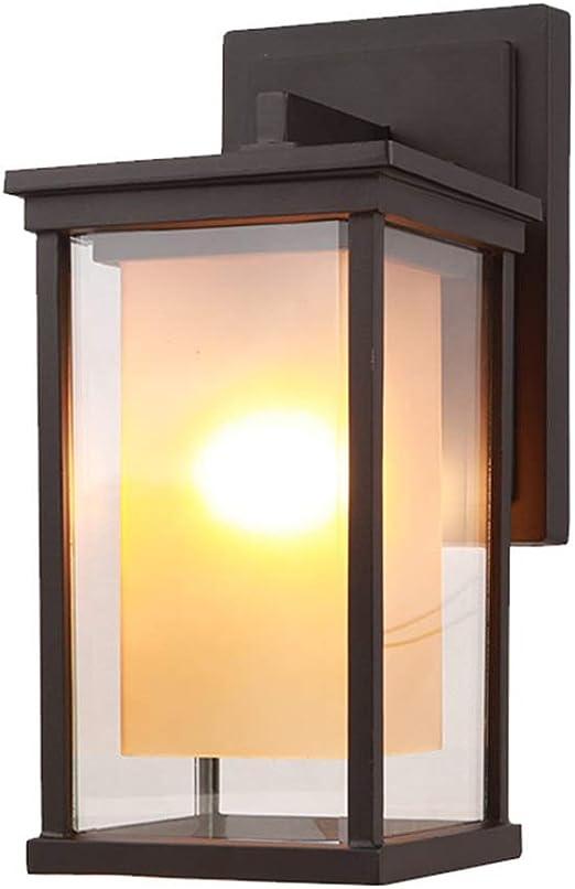 Elegante aplique de pared decorar Lámpara de pared exterior americana Puerta de jardín al aire libre simple Lámpara de pared de jardín Lámpara de pared impermeable Balcón Pasillo Luces de pasillo para: