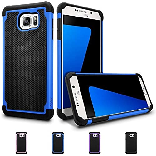 S7 Case, Profer[Dual Layer] [Shock Absorption] Drop Protection Armor Hybrid Defender Protective Case Cover for Sales