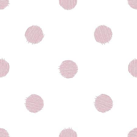 Eccezionale Carta da parati a pois di colore rosa su fondo bianco Friends NW46