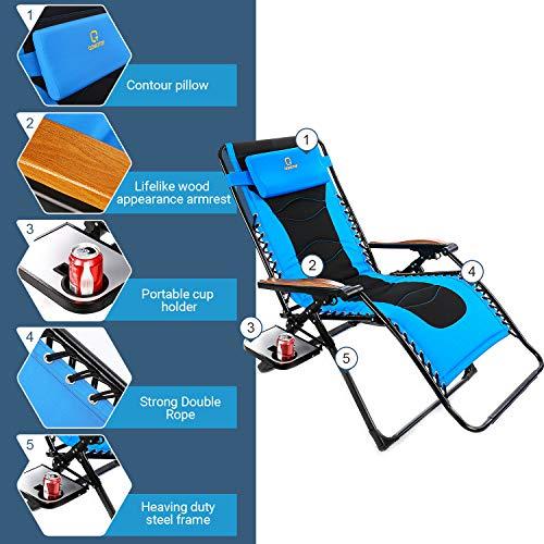 Zero Gravity Recliner Chair Oversize Xl Folding Lawn