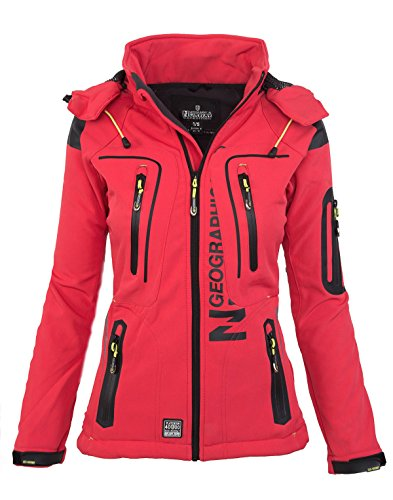plein veste NORWAY GEOGRAPHICAL pluie Softshell Corail femmes fonctions sport 7Z6YOYIrq